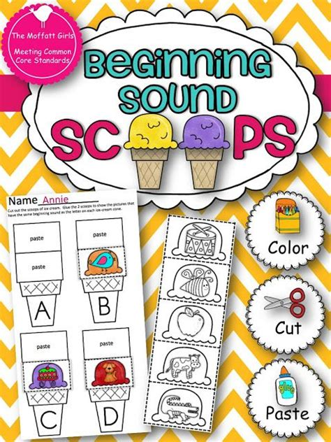 beginning sound scoops  images beginning sounds