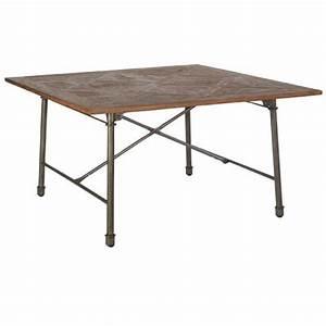 Table 140 Cm : table carr e 140 x 140 cm industrie casita ~ Teatrodelosmanantiales.com Idées de Décoration