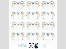 Instagram Weight Loss 2018 Calendar – Making The Thyme