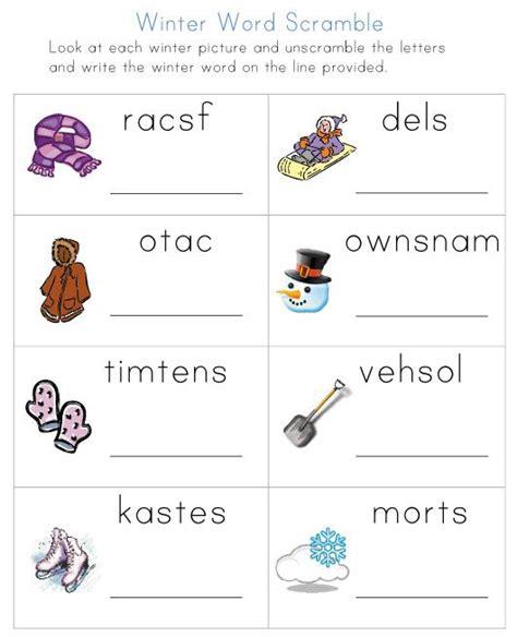 winter worksheets   kids network pinned