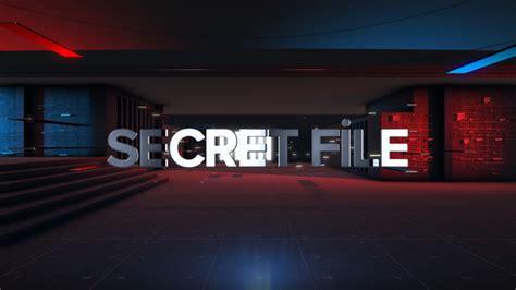 After Effects Template Secret Files by Secret File Element 3d Opener Light Envato Videohive