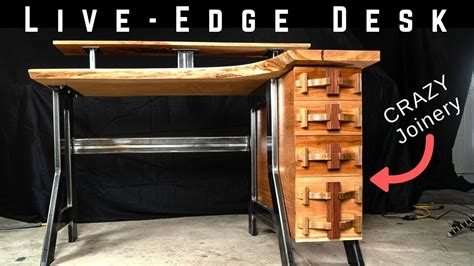 edge industrial desk  crazy woodworking joinery
