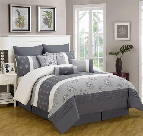 blue gray bedding sets sale 8pc king size blue gray