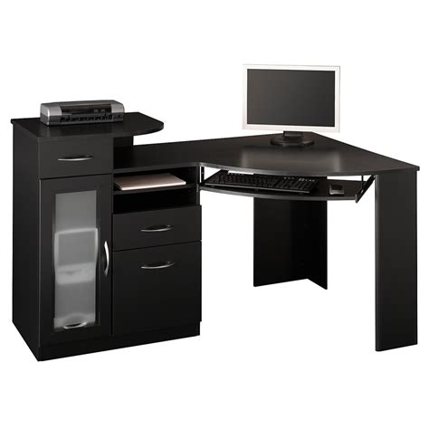 living room furniture ideas for small spaces furniture black wooden corner computer table with keyboard
