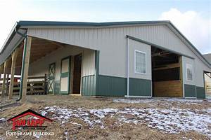 3639w x 4839l x 1039h horse barn building in alexandria new With 36 x 48 steel building