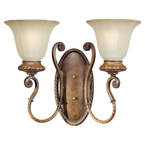 forte lighting 2 light indoor bracket wall sconce rustic