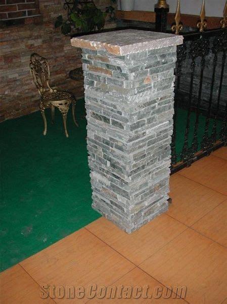 slate concrete gate post green slate gate post  china