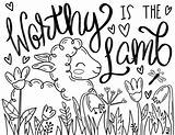Lamb Easter Coloring Sheets Colouring sketch template