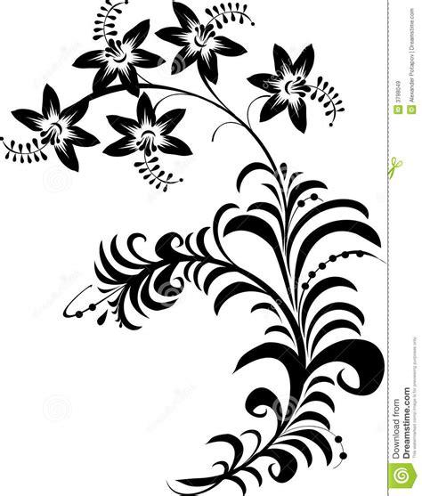 zwart witte bloemen vector illustratie illustratie bestaande uit illustratie 3798049