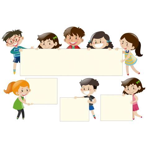 Cornici Di Design Bambini Con Cornici Di Design Scaricare Vettori Gratis