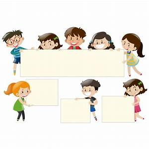 Diseño de niños con marcos | Descargar Vectores gratis