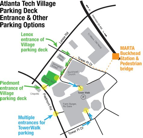 piedmont park parking deck address directions backup atlanta tech