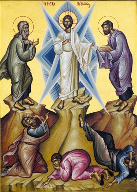 transfiguration lord savior jesus christ august