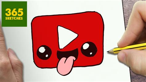 draw  youtube logo cute easy step  step drawing