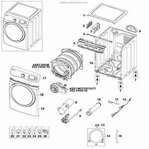Parts For Samsung Dv520agp  Xaa-0000  Main Assy Parts