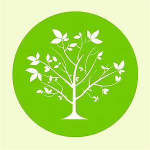 Green Tree Logo Flat Circle Icon Vector Stock Vector ...