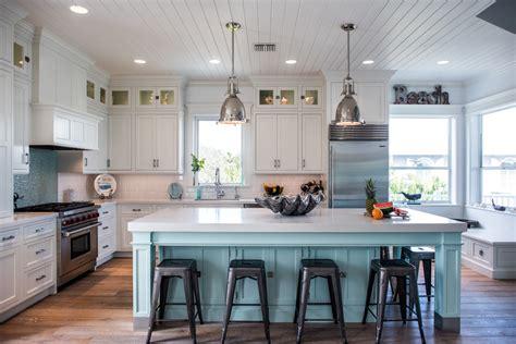 light blue kitchen decor beach kitchen decor kitchen transitional with white bar stool orange roman shade