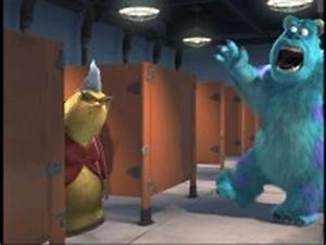 monsters inc blu ray dvd review With monsters inc bathroom scene