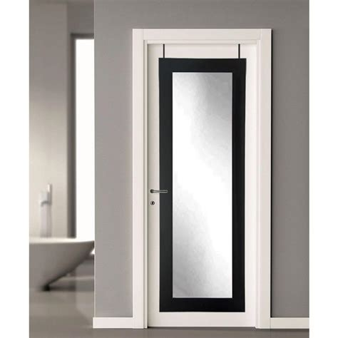 the door mirror 21 5 in x 71 in black the door length framed