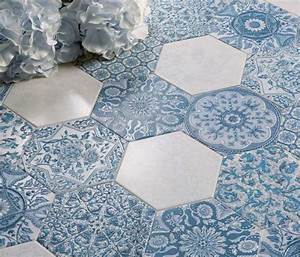 carrelage hexagonal tendance idees de couleurs et designs With carreau ciment hexagonal