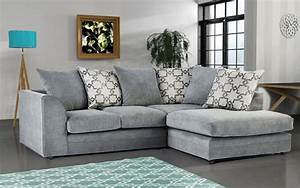 Carlos fabric corner sofa grey high quality cheap sofas for Discount grey sectional sofa