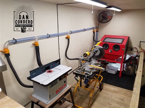 shop vac dust collection system shop layout woodworking
