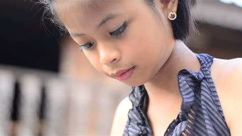 Stock Video Clip Of Face Of Asian Young Girl Shutterstock