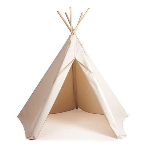 Tipi Zelt Kinderzimmer Weiß by Indianerzelt Hippie Tipi Aus Stoff Natur Weiss Roommate