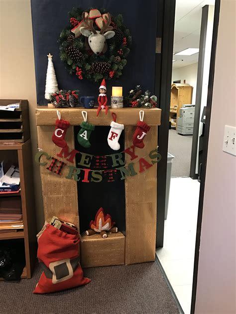 office door  christmas decorating contest  elf