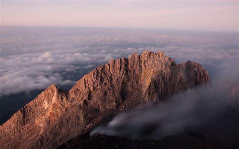 mountain rock fog mist hd wallpaper nature and