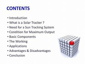advantages and disadvantages of a solar tracker system With automatic tracking system