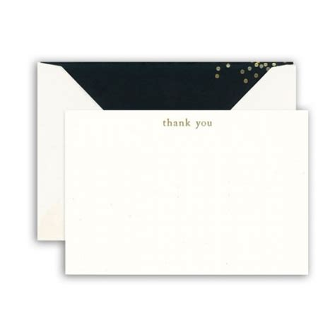 VeraEngraved Black Confetti Thank You Cards