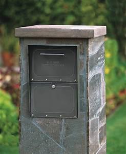 Column, Locking, Mailbox, Brick, Or, Stone, Enclosures