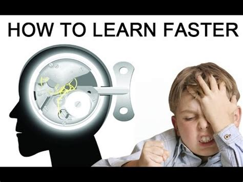 """How To Learn Faster  How To Learn Anything Faster With """"learn More, Study Less"""" Youtube"""
