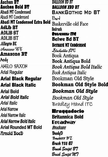 Font Styles Fonts Names Examples Boat Popular