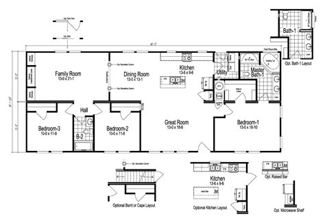 The Sheridan Manufactured Home Floor Plan Or Modular Floor
