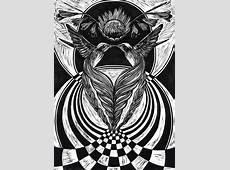 Linocut MC Escher Inspired on Behance