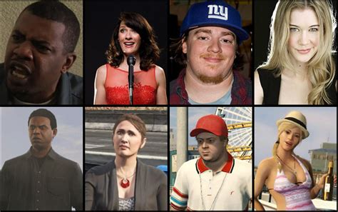 Grand Theft Auto V Voice Actors (from Top Left To