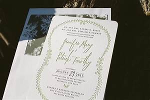 letterpress green wedding invitations bella figura With letterpress machine wedding invitations