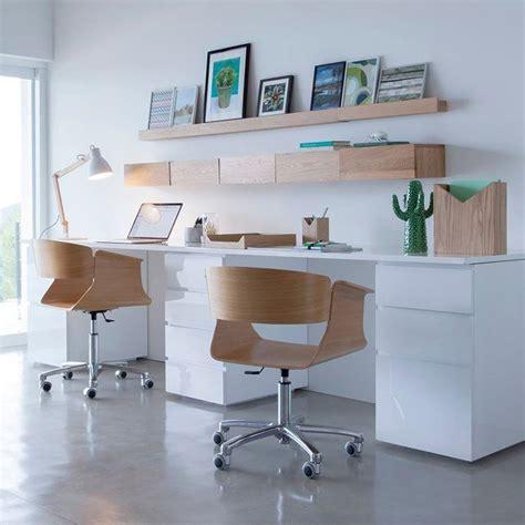 etagere rangement bureau bureau pour la maison blanc et bois décoration