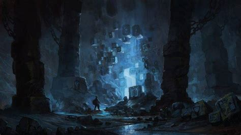 science Fiction, Fantasy Art, Blue, Cave Wallpapers HD ...