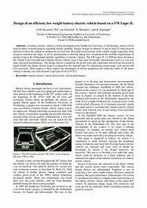 (PDF) Design of an efficient, low weight battery electric ...