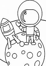 Coloring Astronaut Space Boy Nice Wecoloringpage sketch template