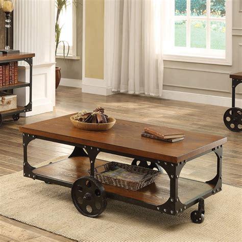 coaster  home furnishings coffee table rustic brown