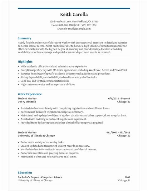 Cv Template For Secondary School Student by Image Result For High School Student Resume High School
