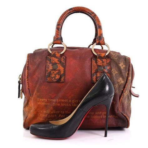 louis vuitton mancrazy jokes handbag monogram canvas  snakeskin  sale  stdibs