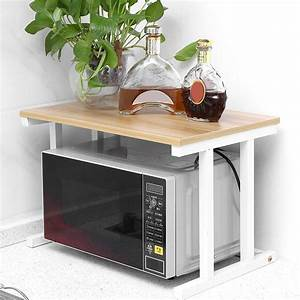 Walfront, Wood, Microwave, Oven, Stand, Rack, 2, Layers, Storage, Racks, Kitchen, Cabinet, Counter, Shelf
