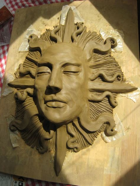 sleeping sun face sculpture sleeping sun masks art