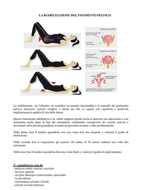 Ginnastica Pavimento Pelvico Esercizi by Pavimento Pelvico Centro Mentis Centro Sanitario