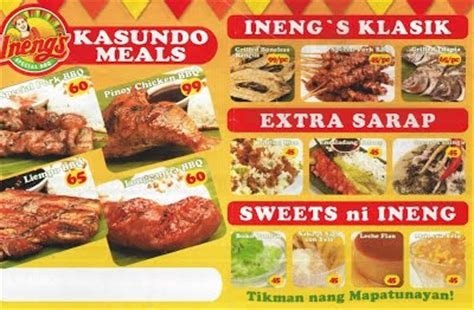 special bbq food ineng s special bbq pinoy food delivery menus